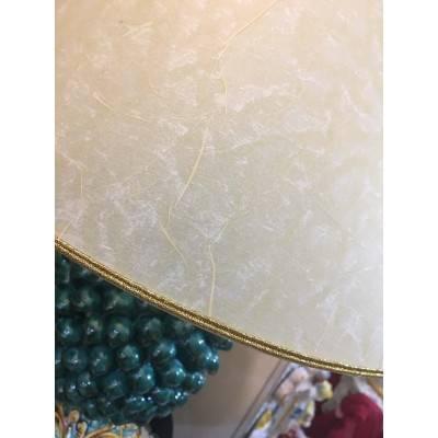 Lume Pigna verderame e ornato barocco - paralume pergamena - altezza circa 60cm