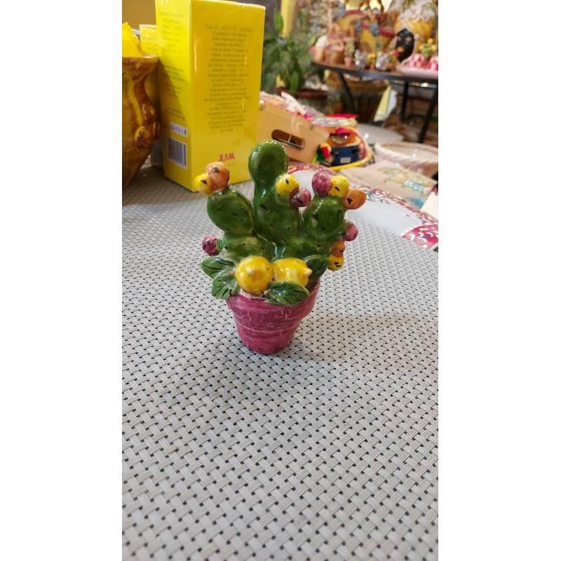 Vasetto con Pala di Ficodindia - altezza 10 cm