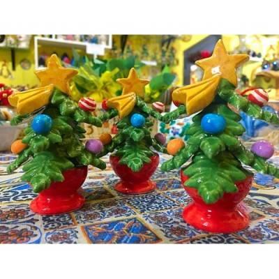 Albero di Natale in pregiata ceramica - due misure