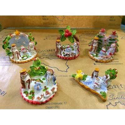 Presepi artigianali in pregiata ceramica realizzati a mano - vari soggetti
