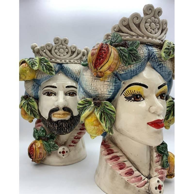 Testa Siciliana con frutta ceramica...