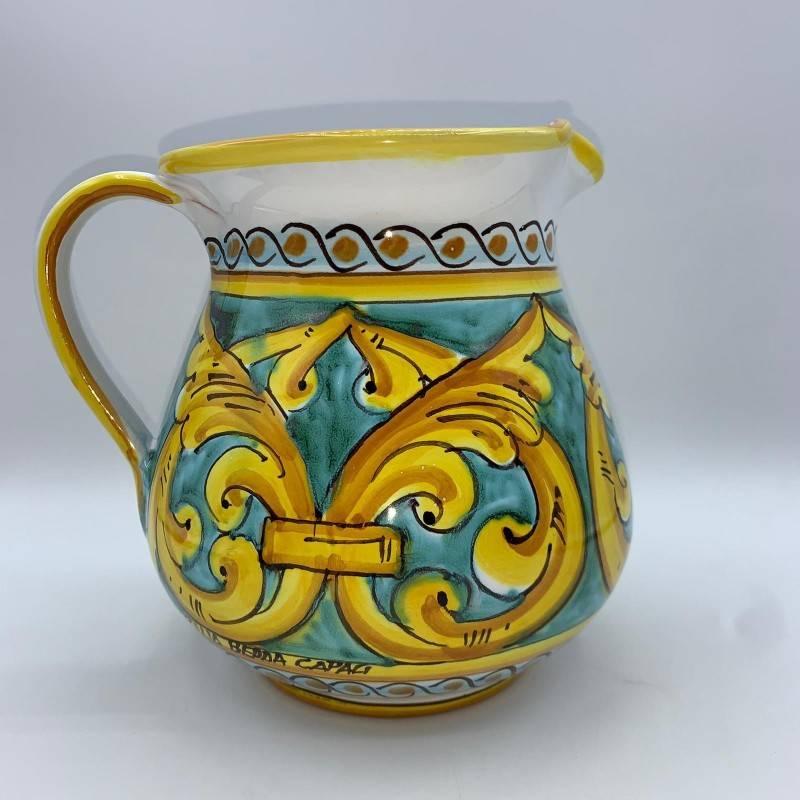 Brocca in ceramica siciliana decorata...