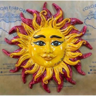 Sole Fuoco Caltagirone - diametro 30 cm