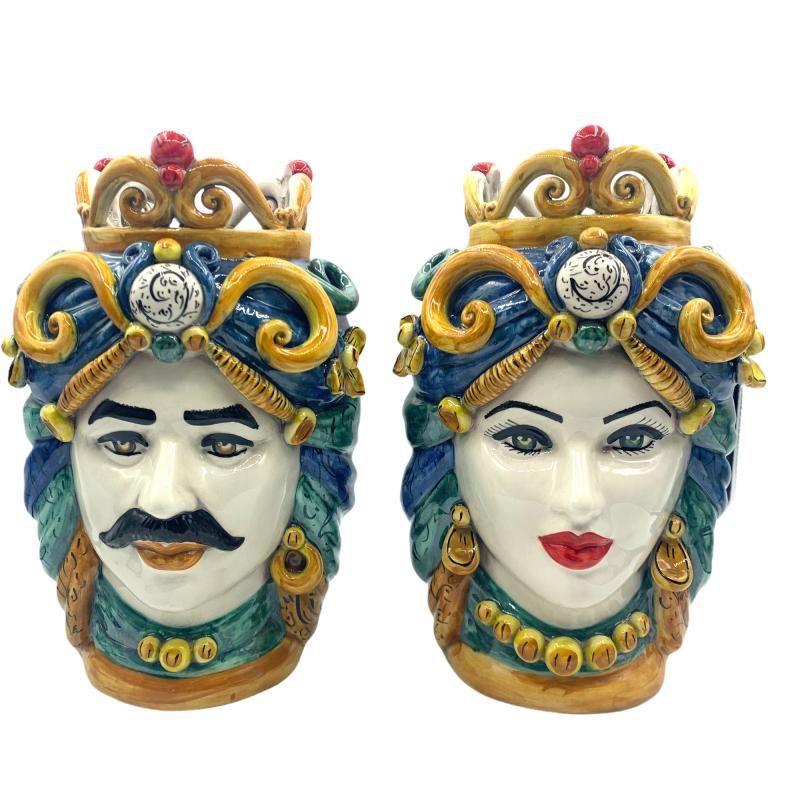 Testa di Moro con corona in ceramica...