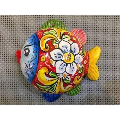 Pesce Palla Caltagirone - Misura Grande cm 15x16