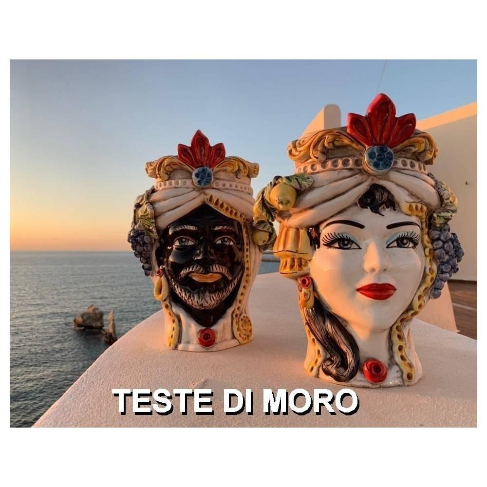 Teste di Moro, Teste Siciliane, Teste in Ceramica, Teste Caltagirone