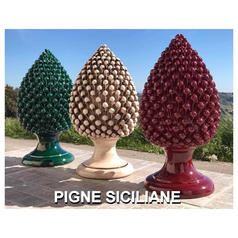 Pigne Siciliane, Pigne in Ceramica, Pigne Caltagirone, Pigne Ornamentali